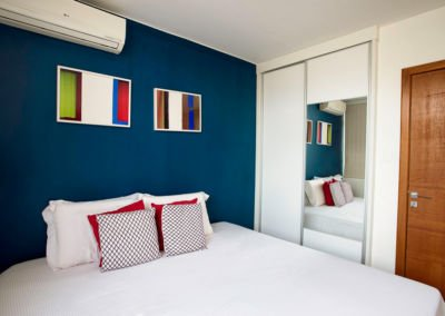 Bedroom Blue wall Interior Design