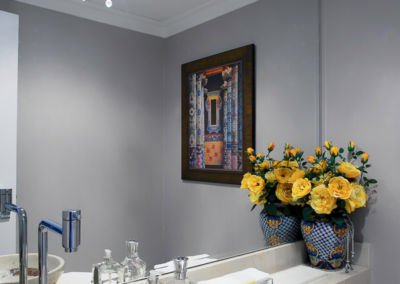 Eclectic bathroom with art Interior Design