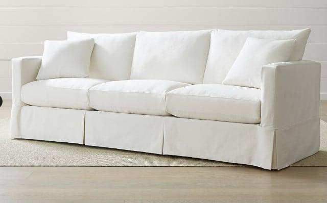 Sofa with a skirt